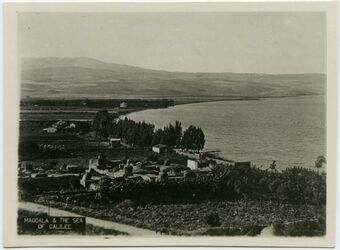 Postkarte Magdala & the Sea of Galilee [See Genezareth]
