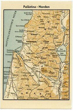 Postkarte Palästina - Norden