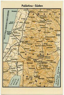 Postkarte Palästina - Süden