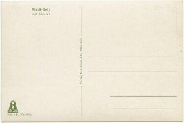 GDIs02262; Postkarte; Wadi-Kelt [Wadi Kelt] mit Kloster, Bestand von rund 60, teils losen, teils zu Lieferungen zusammengefassten Farbpostkarten [GDIs02249-2317]