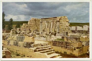 Postkarte Kapernaum [Kafarnaum]. Die Ruinen der Synagoge