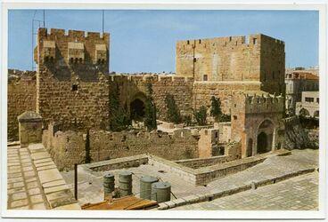 Postkarte Jerusalem. The Citadel. Le Citadelle. Die Zitadelle