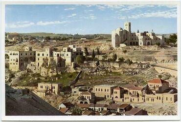 Postkarte Jerusalem. The Scotch Hotel. L