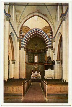 Postkarte Jerusalem.The Church of the Redeemer, Interior. Eglise du Saint Sauveur, Intérieur. Die Erlöserkirche, Inneres