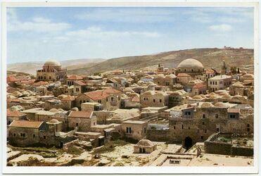 Postkarte Jerusalem. The Jewish Quarter from North. Le Quartier juif vu du Nord. Das jüdische Stadtviertel von Norden