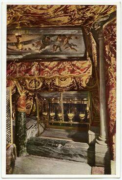 Postkarte Bethlehem - Bethléem. The Chapel of the Manger. La Chapelle de la Crèche. Die Kapelle der Krippe
