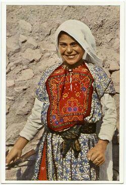 Postkarte Arab Peasant Girl. Jeune Paysante arabe. Arabisches Bauernmädchen