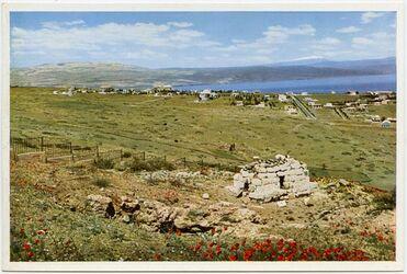Postkarte The tomb of Ben Akiba. Le Tombeau de Ben Akiba. Das Grab Ben Akibas