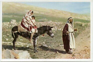 Postkarte The escape to Egypte. La fuite vers l
