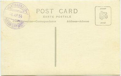 GDIs02318; Postkarte; Synagoga Capharnaum [Kafarnaum]. Proprietas PP. Franciscalium T. S.