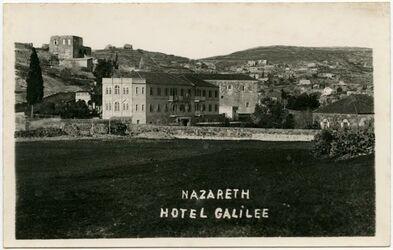 Postkarte Nazareth. Hotel Galilee