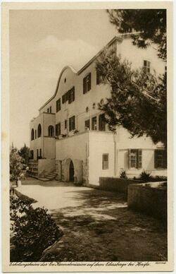 Postkarte Erholungsheim der Ev. Karmelmission auf dem Eliasberge bei Haifa