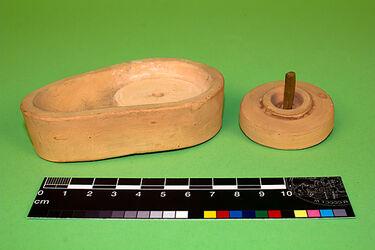 Modell einer Handmühle