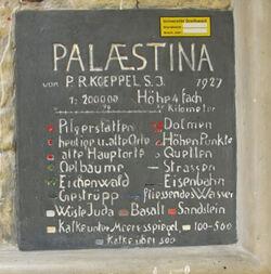 Relief-Palästinakarte