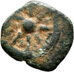 Münze Münze, Makkabäer (oder leicht jüngere Immitation)