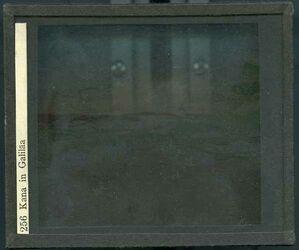GDId00220; Glasplattendia; Kana in Galiläa, Diakiste (GDId00240) mit 22 Glasplatten-Farbdiapositiven (GDId00217-00239)