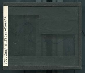 GDId00284; Glasplattendia; Lauf d. Siloa-Kanals, Diakiste (GDId00285) mit 19 Glasplatten-Farbdiapositiven (GDId00266-00284)