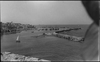 Glasplattendia Sidon: Hafen vom Kreuzfahrerkastell [Kalat el-bahr]