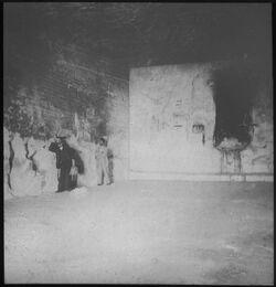 Glasplattendia Höhle des Elias am Fuße des Karmel