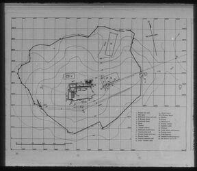 Glasplattendia Samaria [Sebastie], Plan der Stadtanlage mit Wall der Herodianischen Zeit