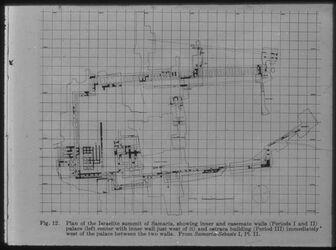 Glasplattendia Samaria [Sebastie], Plan der israelit. Anlagen