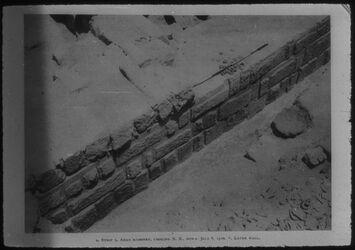 Glasplattendia Samaria [Sebastie], Mauerwerk aus Zeit Ahabs