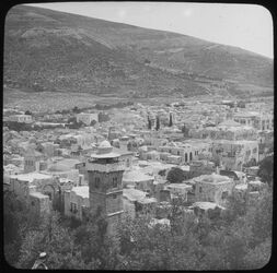 Glasplattendia Nablus + Mt. [Mount] Ebal
