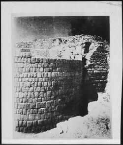Glasplattendia Samaria [Sebastie] Hellenistischer Turm