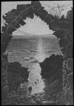 Glasplattendia Mittelmeer von