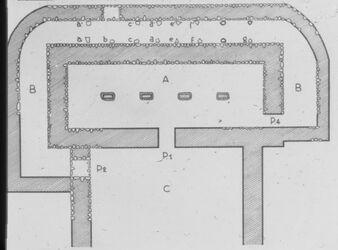 Glasplattendia Et-tell, Palast aus Bronze I
