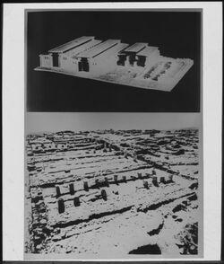 Glasplattendia Ställe Salomos in Megiddo