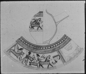 Glasplattendia Tell el-mutesellim [Megiddo], Philistäischer Krug, 13.-12. Jhd.