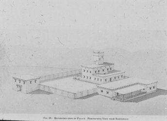 Glasplattendia Tell el-mutesellim [Megiddo], Rekonstruktion d. Palastes, Str. IV