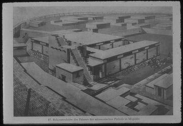 Glasplattendia Tell el-mutesellim [Megiddo], Rekonstr. V. Gebäude 338, Stratum IV