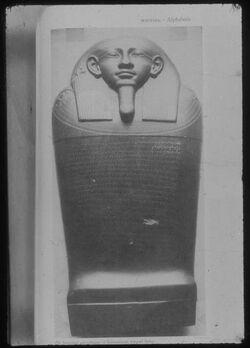 Glasplattendia Sarkophag des Esmunazar, König v. Sidon