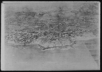 Glasplattendia Luftbildaufnahme von Byblos