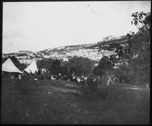 Glasplattendia Zeltlager in Nazareth