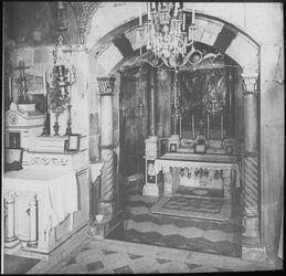 Glasplattendia Gabrielsaltar u. Verkündigungsaltar, Nazareth