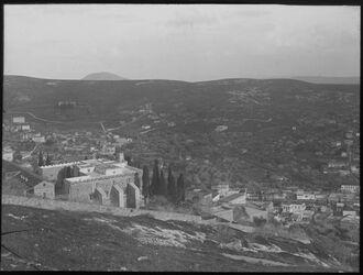Glasplattendia Nazareth von N. Ostteil Tabor