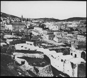 Glasplattendia West-Nazareth um 1870, v. S.