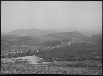 Glasplattendia Blick v. oberhalb v. Nazareth n. S