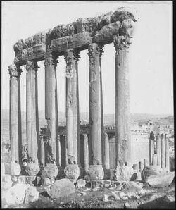Glasplattendia Tempel in ba