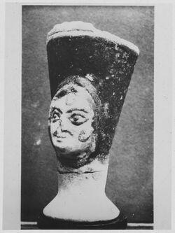 Glasplattendia Aus Grab VI von Minet-el-Beida [wohl Ras esch-schamra]