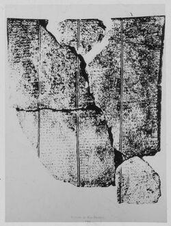 Glasplattendia Tafel von Ras Schamra [Ras esch-schamra]