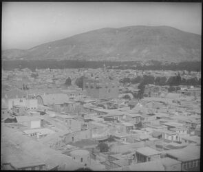 H VI 3; Glasplattendia; Damaskus (Kastell) u. g. kasiun v. Minaret