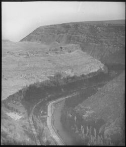Glasplattendia el-barada oberhalb Dam. [Damaskus]
