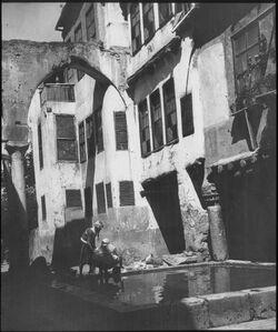 Glasplattendia in Damaskus