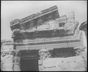Glasplattendia Triumphbogen in Damaskus