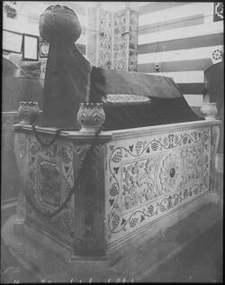 Glasplattendia Grab Saladins in Damaskus