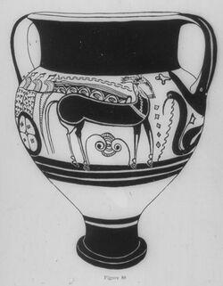 Glasplattendia Ugarit, Mykenische Hydria aus Import [Ras esch-schamra]